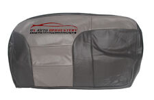 2000 Chevy Tahoe Z71 Second Row Bench 60 Bottom Leather Seat Cover 2-Tone Gray*
