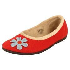 Scarpe da donna rosso in gomma con stringhe