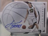 2016 National Treasures Collegiate Jarrod Uthoff Autograph # 83/99 Iowa Hawkeyes