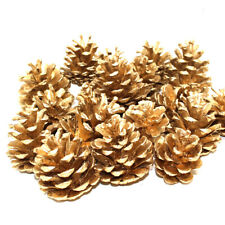 1KG OF GOLD PAINTED PINE CONES CHRISTMAS FESTIVE DECORATION - APPRX 50 CONES