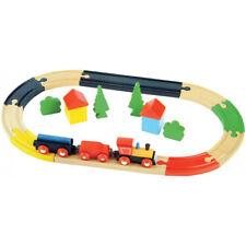 Set Treno Con Binari 19 Pezzi Wooden Toys Bambini Giochi Modellismo