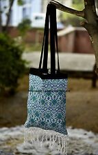 Indian Mandala Hand Bag Cotton Round Women Carry Bags Tote Towel Roundie Bags