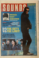 Sounds October 22 1988 U2, Larry Mullen Jr, Ozzy Osbourne, Nanci Griffith,