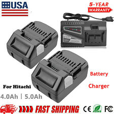 For HITACHI HXP 18V Lithium Battery BSL1815 BSL1815X BSL1830 BSL1840 Or Charger