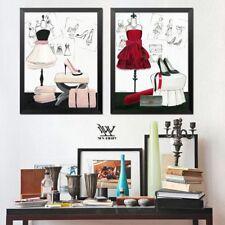 Estilo lienzo Casa Decoración Pared Arte Cartel Couture Moda Impresiones