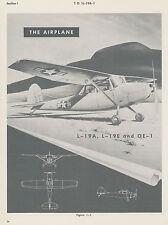 CESSNA L-19A & L-19E BIRDDOG / FLIGHT HANDBOOK 1957