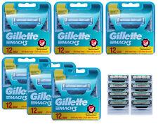80 Gillette Mach3 Rasierklingen / 6x 12er OVP + 2x 4er = 8 im Blister = 80 Stück