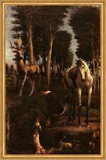 Der heilige Hubertus Hans von Marees Wald Jäger Jagd Sankt St LW H A1 0222