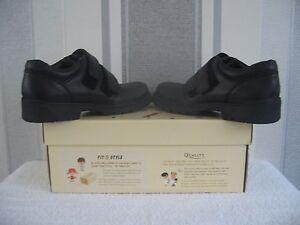 Start-Rite Lift Off, Black Leather Boys Riptape School Shoes/Rotate School Shoes