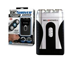 Bell+Howell Tac Shaver, Mustache and Beard Rotary Shaver with pop-up Trimmer