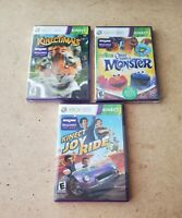 Xbox 360 kinect game lot 3 kinect games
