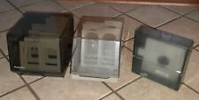 Lot 3 FLOPPY DISK STORAGE BOXES w/ Dividers 5 1/4 Disc Holder MAXELL/FLIP'N FILE