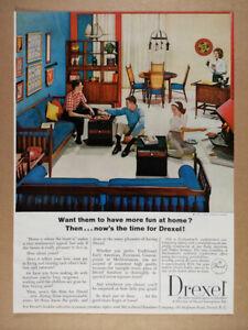 1964 Drexel Declaration Furniture Room Divider vintage print Ad