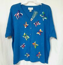 GRAVER STUDIO S/S BUTTERFLY SWEATER NWT LADIES SIZE 3X