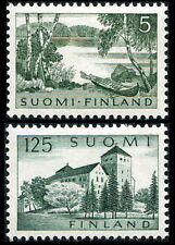 Finland: 1961 Lake & Rowboat and Turku Castle Issues