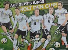 DEUTSCHE NATIONALMANNSCHAFT - A2 Poster (XL - 42 x 55 cm) - Fußball WM 2018 NEU