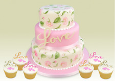 Patchwork Cutters Love Script Set Sugarcraft  FAST DESPATCH