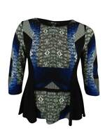 Style & Co. Women's 3/4 Sleeves Embellished Top (PL, Nolita)