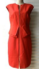 Ted Baker 'Kwyli' Structured Zip Peplum Dress Red Size 4 UK 12/14 New
