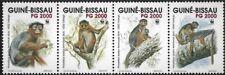 "1992 ""Guinea-Bissau"" WWF, Fatango Monkey complete set VF/MNH! LOOK!"