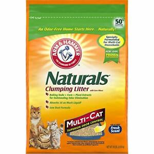 ARM & HAMMER Naturals Litter Multi Cat 18lb Bag NEW