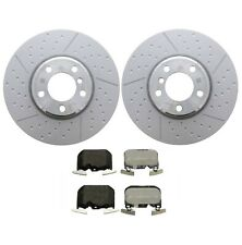Genuine Front Brake Kit Vented Dimpled Disc Rotors & Pad For BMW F30 F33 F34 F36