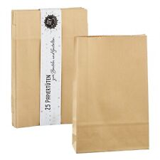 25 Papiertüten DIY zum Befüllen Beutel Advetnskalender Tragetaschen 21,5x13,5 cm