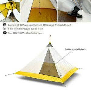 40D Ultralight Outdoor Camping Mesh Tent Summer 4 Persons Mesh Tent 4 Seasons
