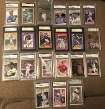 SALE Graded Card Lot with rookies Harper Trout Bonds Pujols Griffey Jeter PSA