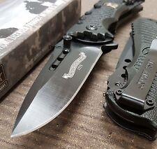 US. ARMY Black Blade Aluminum Handle Tactical Rescue Pocket Knife A-A1015BK