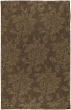 "Surya Brown 3 x 5 Floral Contemporary Hand Made Area Rug - Approx 3' 3"" x 5' 3"""
