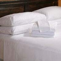 """Twin XL Fitted Premium Hotel Bed Sheet 39""""x80""""x10"""" T180 Percale - Set of 2"""