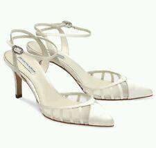 Bnwb Benjamin Adams 'Penelope' ivory silk wedding/party shoes.uk 7/40 £169