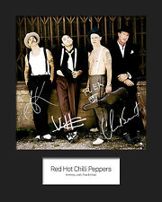 RED HOT CHILLI PEPPERS #1 10x8 SIGNED Mounted Photo Print - FREE DELIVERY