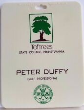 Toftrees Golf Course State College PA Bag Tag PGA Plastic Peter Duffy