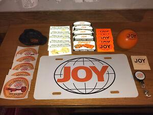 Joy coal mining sticker Lot 19 Matchbook Globe Vintage license plate stress ball