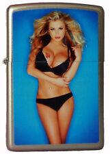 Zippo Lighter ●  Pin Up Girl Blond Bikini Sexy Retro ● Neu New OVP ● B132