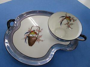 Vintage Noritake Luster Wear Ceramic 2 pc  Lunch Set