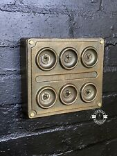 More details for 6 gang solid cast bronze light switch industrial 2 way ~ bs en approved