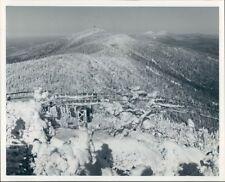 1978 Press Photo Sugarbush Ski Resort Vermont Snow Covered Green Mountains