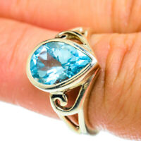 Blue Topaz 925 Sterling Silver Ring Size 6.75 Ana Co Jewelry R51650F