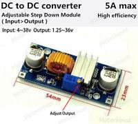 5A DC-DC 4-38V to 3.3V 5V 9V 12V 24V Buck Step Down Adjustable Voltage Converter