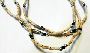 2 Tulsi Knotted Beads Japa Mala Necklace Prayer Yoga Meditation Rosary Beads