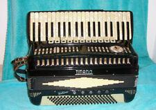"""TITANO Virtuoso 120 bass Accordion 4 & 5 Reed 19"""" keyboard Accordian  Used as is"""