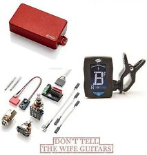 EMG 81TWR RED DUAL MODE HUMBUCKER & REVERSE SINGLE COIL PICKUP ( GUITAR TUNER )