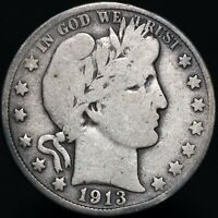 1913 D | U.S.A. Barber Half Dollar | Silver | Coins | KM Coins