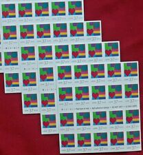 Four x 20 = 80 Of LOVE (Geometric, Circles & Lines) 37¢ US Postage Stamps # 3657