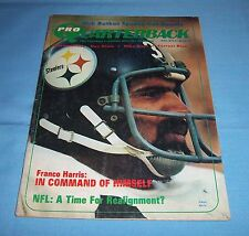 Pittsburgh Steelers Franco Harris Pro Quarterback Magazine 1973