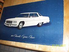 Vintage 1975 Caprice Classic GM Dealer Showroom Poster Sign 32x18, Cardboard