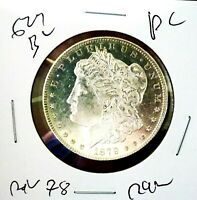 Morgan Silver Dollar 1879 s rev 78 gem bu pl ultra rare top 100 vam monster